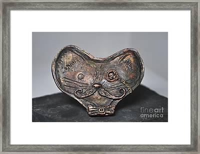 Steampunk Cat  Framed Print