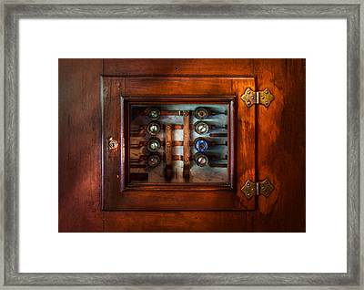 Steampunk - Electrical - The Fuse Panel Framed Print by Mike Savad