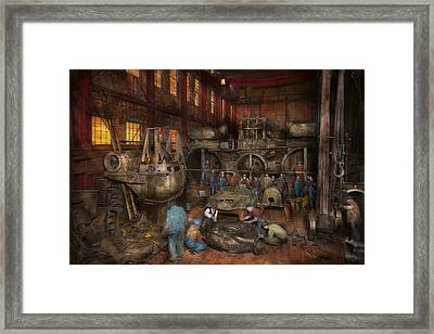 Steampunk - Final Inspection 1915 Framed Print by Mike Savad