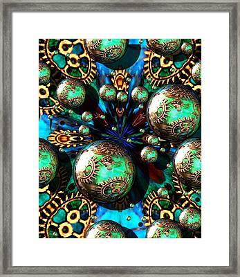 Steampunk Fractal 71216.4 Framed Print