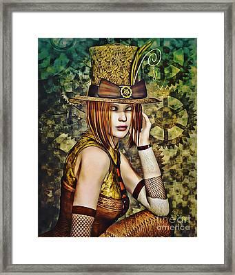 Steampunk Girl Two Framed Print