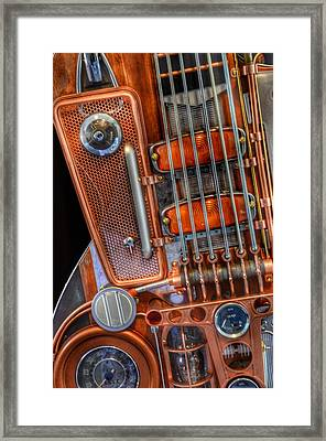 Steampunk Guitar 2 Framed Print by Marianna Mills