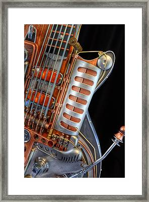 Steampunk Guitar Framed Print by Marianna Mills