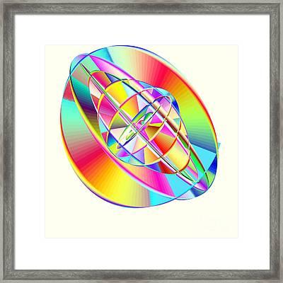Steampunk Gyroscopic Rainbow Framed Print by Michael Skinner