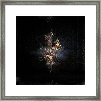 Steampunk Hearts Framed Print