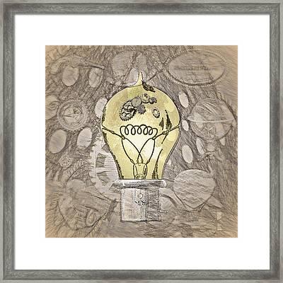 Steampunk Ideation 2 - Da Vinci Styling Framed Print