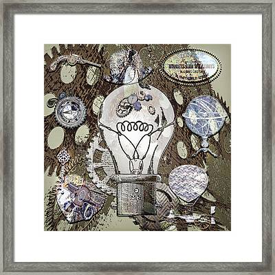 Steampunk Ideation 2 Framed Print by Steve Ohlsen