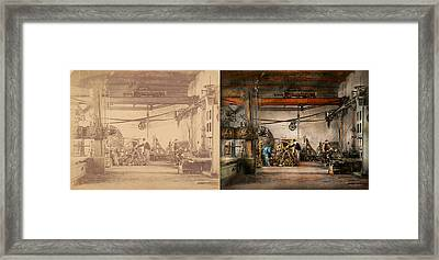 Steampunk - In An Old Clock Shop 1866 - Side By Side Framed Print by Mike Savad
