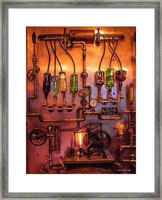 Steampunk Interior Design 3 Liquor Wall Dispenser Atlanta Mancave Bar Art Framed Print