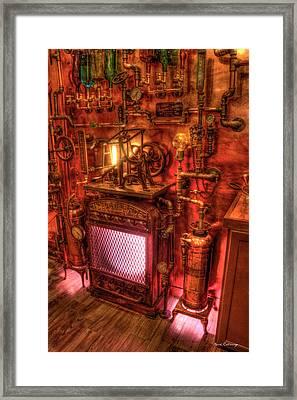 Steampunk Liquor Still Steampunk Bar Art Framed Print