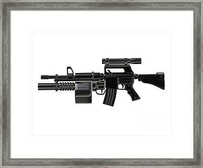 Steampunk Machine Gun Framed Print
