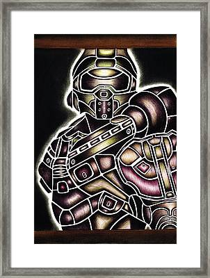 Steampunk Master Chief  Framed Print