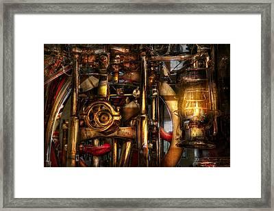 Steampunk - Mechanica  Framed Print by Mike Savad