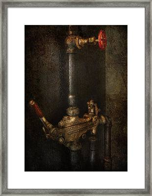 Steampunk - Plumbing - Number 4 - Universal  Framed Print by Mike Savad