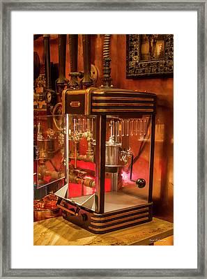 Steampunk Interior Design Popcorn Machine Medieval Barart Framed Print