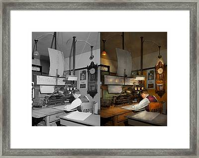 Steampunk - Rr - The Train Dispatcher 1943 Side By Side Framed Print