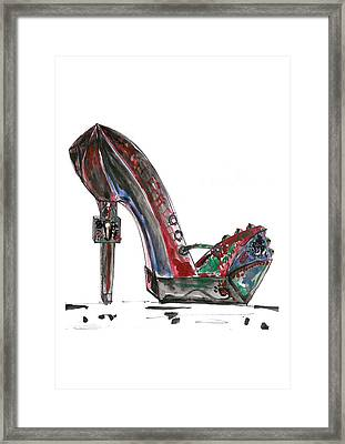 Steampunk Shoe Framed Print by Marian Voicu