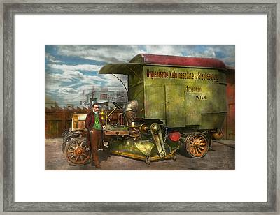 Steampunk - Street Cleaner - The Hygiene Machine 1910 Framed Print by Mike Savad