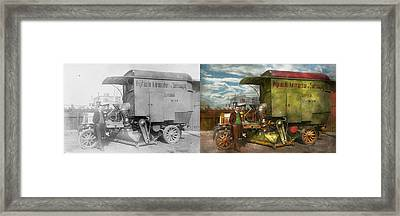 Steampunk - Street Cleaner - The Hygiene Machine 1910 - Side By Side Framed Print by Mike Savad