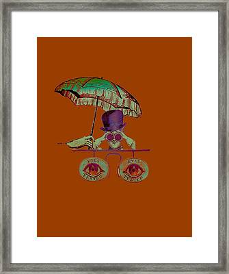 Steampunk T Shirt Design Framed Print