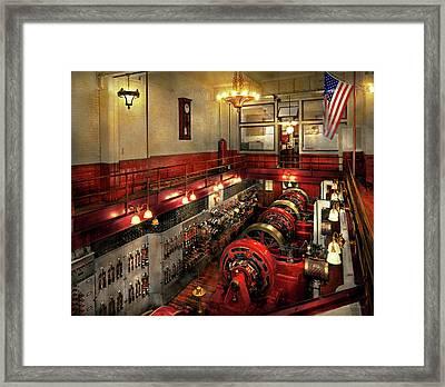 Steampunk - The Engine Room 1974 Framed Print