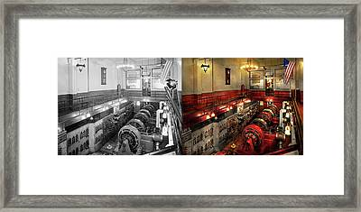 Steampunk - The Engine Room 1974 - Side By Side Framed Print