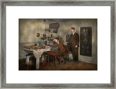 Steampunk - The Wireless Apparatus - 1905 Framed Print