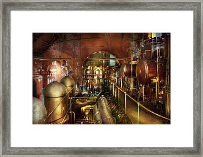 Steampunk - Think Tanks Framed Print