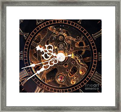 Steampunk Time Framed Print by John Rizzuto