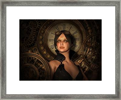 Steampunk Time Keeper Framed Print by Britta Glodde