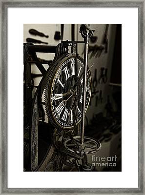 Steampunk - Timekeeper Framed Print by Paul Ward