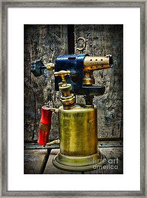 Steampunk Tool Of Fire Framed Print by Paul Ward