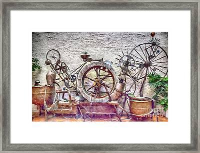 Steampunk Water Way Framed Print