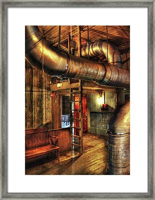 Steampunk - Where The Pipes Go Framed Print by Mike Savad