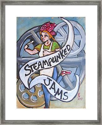 Steampunked Jams Framed Print by Loretta Nash