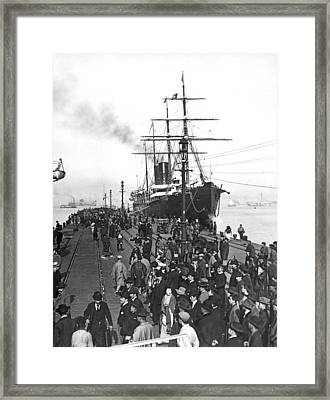 Steamship In Japan Framed Print by Underwood Archives