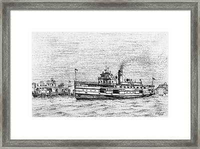 Steamship Nobska Framed Print