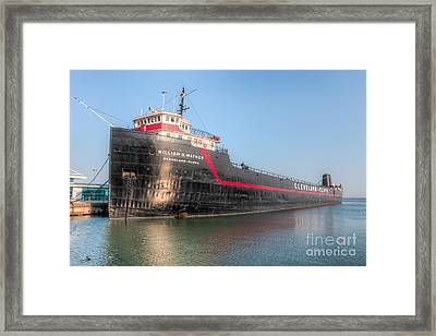 Steamship William G. Mather I Framed Print by Clarence Holmes