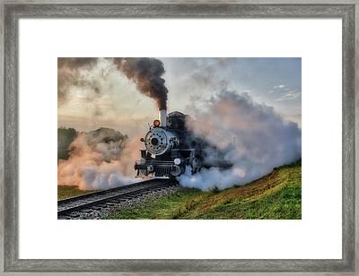 Steamy Departure Framed Print