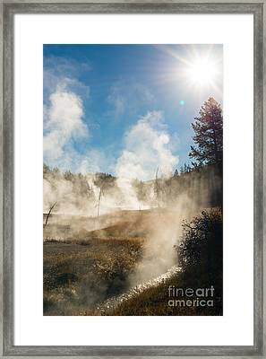 Steamy Sunrise Framed Print by Birches Photography