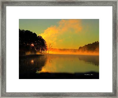 Steamy Sunrise Framed Print