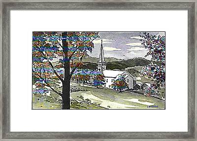 Steaple Framed Print by Kenneth Lambert