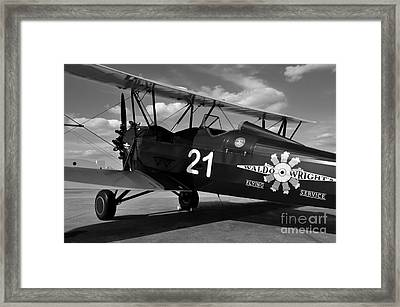 Stearman Biplane Framed Print by David Lee Thompson