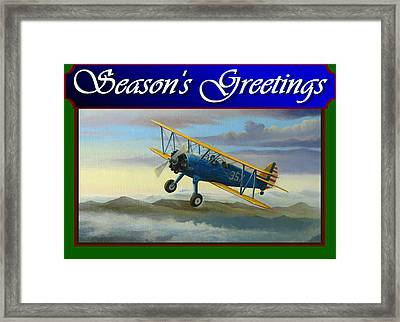 Stearman Christmas Card Framed Print