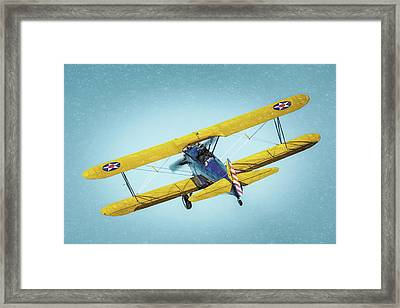 Framed Print featuring the photograph Stearman by James Barber