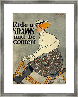 Stearns Vintage Bike Advertisement Poster Framed Print
