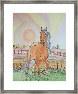 Framed Print featuring the painting Stech Of A Horse by Connie Valasco