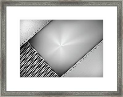 Steel Abstract Framed Print