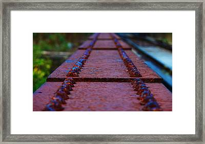 Steel And Bolts Framed Print by Russell Bonovitch