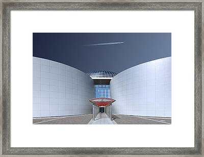 Steel And Sky Framed Print by Markus Kuhne